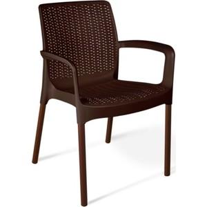 Стул Sheffilton SHT-S68 коричневый / коричневый муар цена и фото