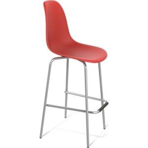 Барный стул Sheffilton SHT-S29 красный / хром лак