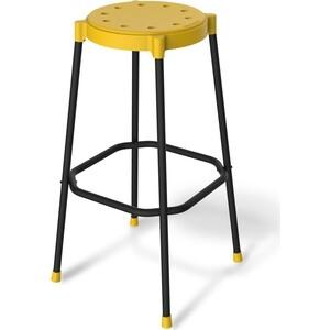 Барный стул Sheffilton SHT-S48 желтый / черный муар
