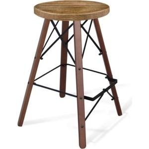 Барный стул Sheffilton SHT-ST16/S80 дуб брашированный / темный орех