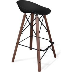 Барный стул Sheffilton SHT-ST19/S80 черный / темный орех
