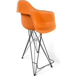 Стул барный Sheffilton SHT-ST7/S66 оранжевый / черный муар стул барный sheffilton sht s66 500х530х1160мм бежевый черный