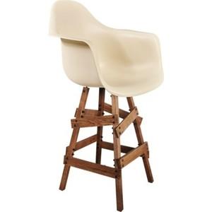 Стул барный Sheffilton SHT-ST7/S81 бежевый / брашированный коричневый стул барный sheffilton sht s66 500х530х1160мм бежевый черный