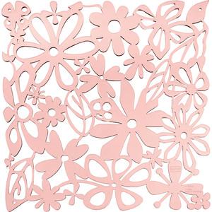 Набор из 4 декоративных элементов розовый Koziol Alice (2035638)
