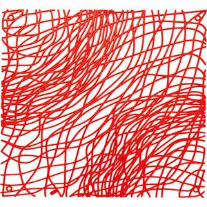 Набор из 4 декоративных элементов красный Koziol Silk (2033536) koziol подстановочная салфетка silk 3090588 45х32 см оливковая 004 080200 005 koziol
