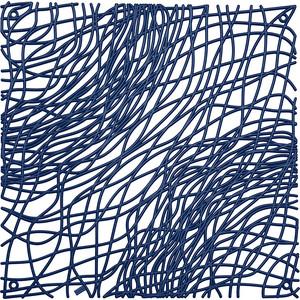 Набор из 4 декоративных элементов синий Koziol Silk (2033585)