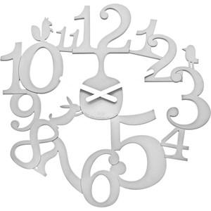 Часы настенные белые Koziol Pip (2327525)