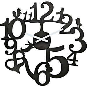 Часы настенные чёрные Koziol Pip (2327526)