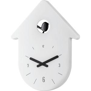 Часы настенные бело-чёрные Koziol Toc-Toc (2329101)