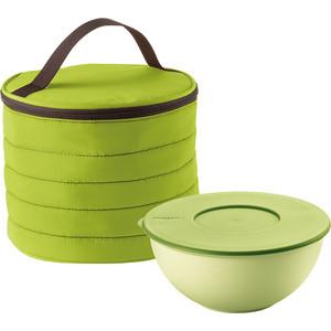 Набор термосумка+контейнер круглый зелёный Guzzini Handy (03290284)