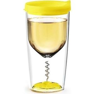 Бокал 0,35 л желтый Asobu Vino opener (VOC1 yellow)