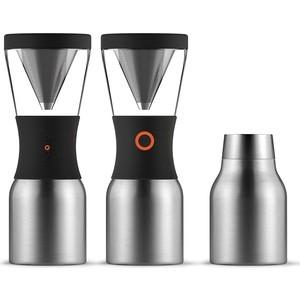 Кофеварка портативная  1 л серебристая Asobu Cold Brew (KB900 Silver/Black)