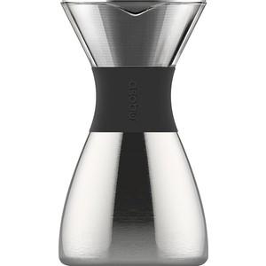 Кофеварка портативная 1 л серебристая Asobu Pour Over (PO300 Silver/Black)