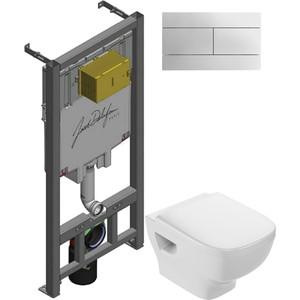 Комплект унитаза Jacob Delafon Struktura с инсталляцией, кнопкой, сиденьем микролифт (EDF102-00, E29025-NF, E70025-00, E4316-CP)
