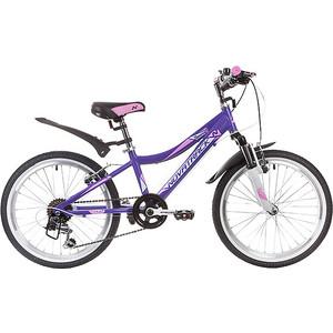 Велосипед 2-х колесный NOVATRACK 20 NOVARA фиолетовый 20AH6V.NOVARA.VL9 велосипед novatrack girlish line 20 2016 бело фиолетовый