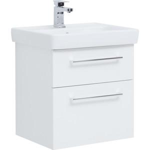Тумба с раковиной Dreja Q Max 60 белый (77.0003W, 191638) dreja мебель для ванной dreja q max 60 береза