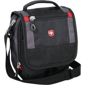 Сумка-планшет Wenger Mini Boarding Bag для документов черная/серая 1092239