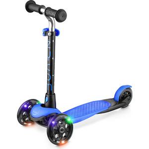 цена на Самокат 3-х колесный Zycom со светящимися колесами Zing LUW (сине-черный)