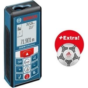 Лазерный дальномер Bosch GLM 80 Professional и мяч Adidas