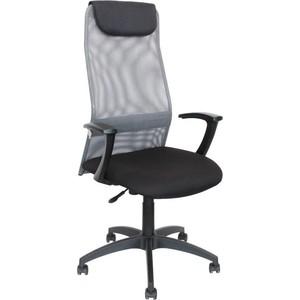 Кресло Стимул-групп Sti-Kr-KB8/grey пластиковая крестовина, спинка сетка серый TW-04 / сиденье ткань черный NEO