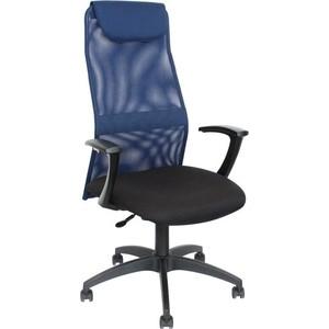 Кресло Стимул-групп Sti-Kr-KB8/blue пластиковая крестовина, спинка сетка синий TW-05N / сиденье ткань черный NEO