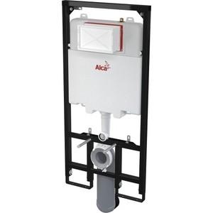 где купить Инсталляция для унитаза AlcaPlast для сухой установки (для гипсокартона) (AM1101/1200) дешево