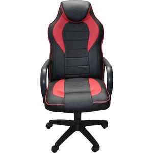 Кресло Союз мебель Геймер комбинированное, экокожа черно-красная