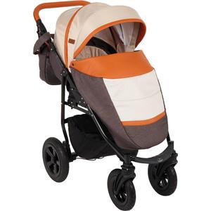 Коляска прогулочная Prampol PANDA (коричневый+бежевый+карамель) коляска 2 в 1 для двоих детей riko team 04 бежевый коричневый