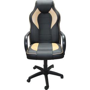 Кресло Союз мебель Геймер комбинированное, экокожа черно-бежевая цена