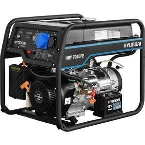 Бензиновый генератор Hyundai HHY 7020FE генератор бензиновый hyundai hhy 9000fe ats колеса