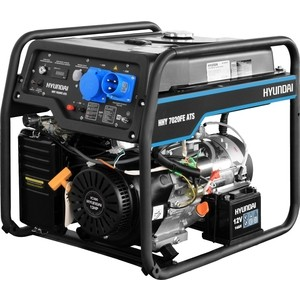 Бензиновый генератор Hyundai HHY 7020FE ATS генератор бензиновый hyundai hhy 9000fe ats колеса