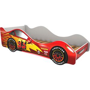 Кровать-машина Бельмарко Тачка красная 160x70