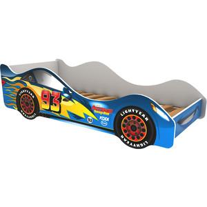 Кровать-машина Бельмарко Тачка синяя 160x70 фото
