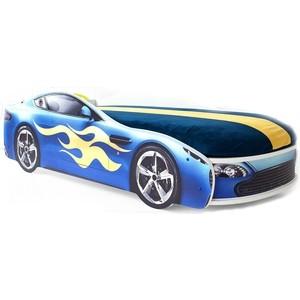 Кровать с матрасом Бельмарко Бондмобиль синий