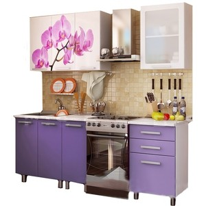 Кухня БТС Орхидея 1,6 м кухня бтс орхидея 1 6 м