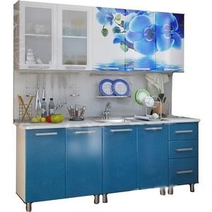 Кухня БТС Люкс лазурь 2,0 м кухня бтс орхидея 1 6 м