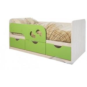 Кровать детская БТС Минима лего 80x160 лайм