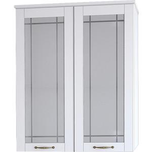 Шкаф Dreja Antia 60 2 дверки со стеклом, белый (99.0441) трия шкаф верхний со стеклом синга крем в 60 60 1дос