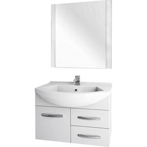 цена на Мебель для ванной Dreja Alfa 75 1 дверка, 2 ящика, белый