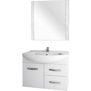 Мебель для ванной Dreja Alfa 90 1 дверка, 2 ящика, белый