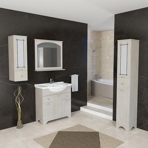 Мебель для ванной Dreja Antia 85 3 дверки, 2 ящика, капучино