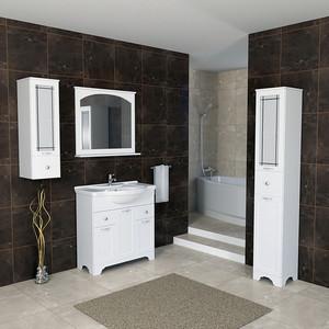Мебель для ванной Dreja Antia 85 3 дверки, 2 ящика, белый