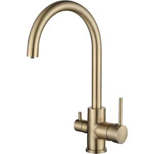 Смеситель для кухни Kaiser Merkur бок под фильтр Bronze бронза (26744-3) смеситель для кухни kaiser vincent под фильтр бронза bronze 31744 3