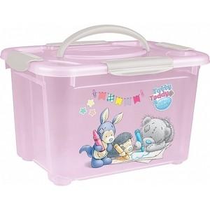 Коробка Бытпласт Универсальная С Ручкой И Аппликацией Me To You 5,5л (Розовый)