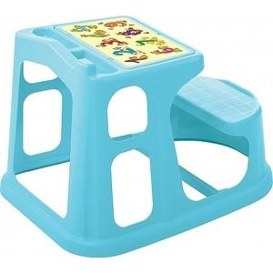 Стол-Парта Детская Бытпласт Пластишка С Аппликацией 730х550х500 Мм (Голубой)