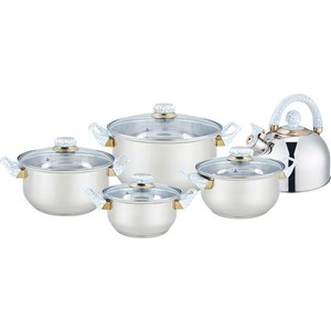 Набор посуды 9 предметов Bekker Classic (BK-4601)
