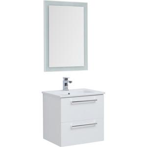Мебель для ванной Dreja Grace Plus 60 два ящика, белый лак