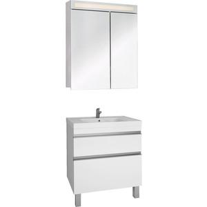 Мебель для ванной Dreja Grace Plus 70 два ящика, белый лак