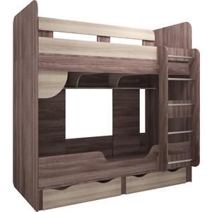 Кровать двухъярусная Комфорт - S Доминик м14 шимо темный/шимо светлый
