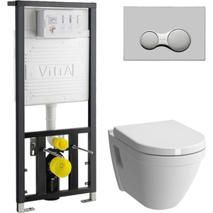 Комплект Vitra S50 Rim-Ex с инсталляцией, безободковый, микролифтом (7740B003-0075, 700-1873, 72-003-309)